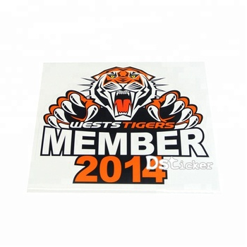 China Cheap Hot Sale Custom PVC Funny Sticker for Car