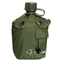 PLASTIC MILITARY CANTEEN WITH COVER 1 LITRE OLIVE
