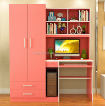 2017 hot sale multifunctional study desk and wardrobe unit