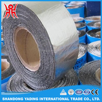 Self adhesive bitumen tape waterproof membrane / anti corrosion tape / PP woven fiber tape mesh membrane