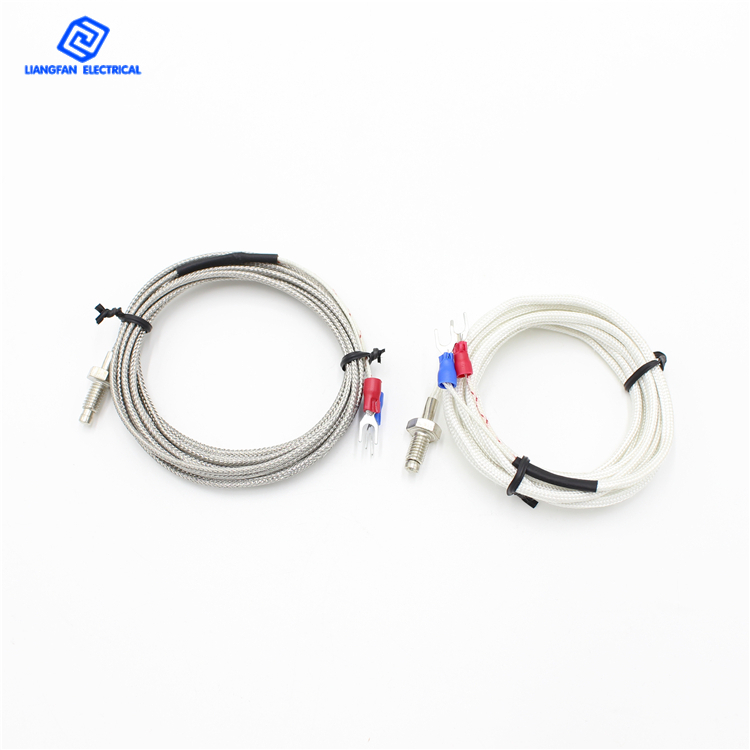 Customized M6/M8 Wholesale Stainless Steel Shielded Wire K Type Screw Thermocouple <strong>J</strong> Type Thermocouple for Extruder