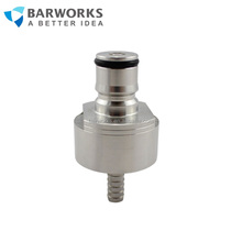 Ball Lock Type Stainless Steel Carbonation Cap for soft drink bottle