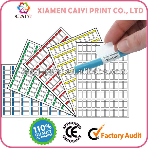 A4 Cable Labels For Laser Printer