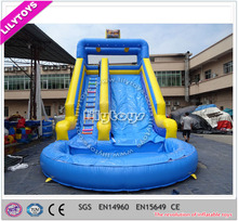 Top quality inflatable bouncy castle with water slide,EN14960 certificate passed