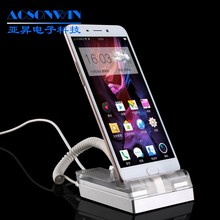 Mobile phone anti-theft acrylic display stand security alarm device for iphone and Android
