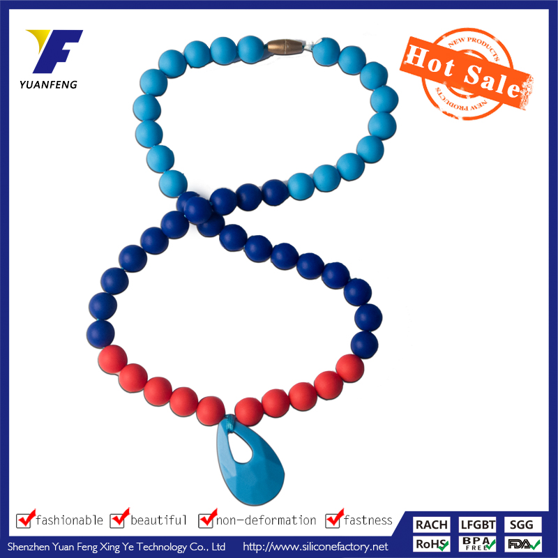 fashion food grade silicone beads for jewelry