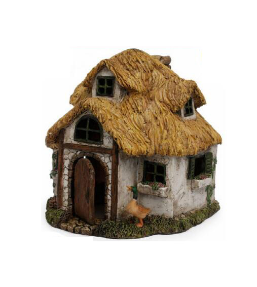 Factory Custom made best home decoration gift polyresin resin fairy house miniature garden accessories