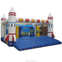 EN71 certificated aerospace heme adult bounce house for wholesales