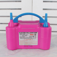 Advertising Double Mouth Electrical Pump For Air Inflate Balloon
