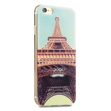 Fashional Fold Retro Eiffel Tower Universal color printed cover For Iphone 6/6s 4.7 inch