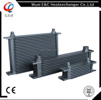 motorcar stacked fluid oil Cooler 6 AN Inlet/Outlet