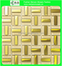 Parquet recycle stainless steel mosaic tiles SE201