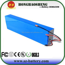 HHS Customized 10S4P lithium 36v 12ah li-ion battery pack for e bike