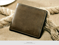 Genuine leather wallets business design small men wallets
