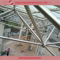 Pre engineered steel grid structure roof design and production