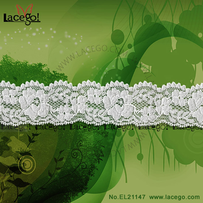 Hot <strong>cheap</strong> off white flower bridal lace trim for wedding dress