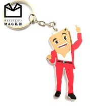 Modern hot sale silicon custom 3d double-sided soft pvc keychain