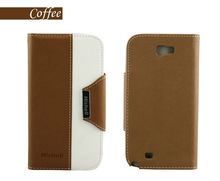 Solar Cell Phone Leather Case For Galaxy Note2 N7100