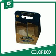 FANCY FOUR/SIX BEER CARRIER PAPER PACKING BOX
