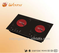 Double burner touch sensor control ceramic plate infrared induction cooker