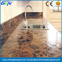 Dark Emperador Precut Kitchen Countertop