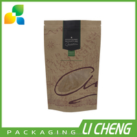 Manufacturer wholesale kraft paper bag with clear window for food packing