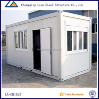 Cheap Steel Frame Movable Shipping Container House 20ft For Sale