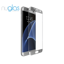 2016 New Arrival for Samsung Galaxy S7 Edge Tempered Glass Screen Protector Nuglas S7 Edge Full Cover 3D Curved Tempered Glass