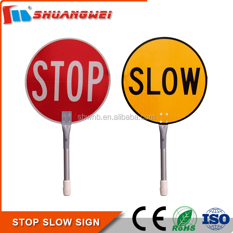High Quality Traffic Control 450mm Aluminum hand held stop signs