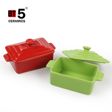 Rectangle stoneware casserole cookware sets kitchen for microwave
