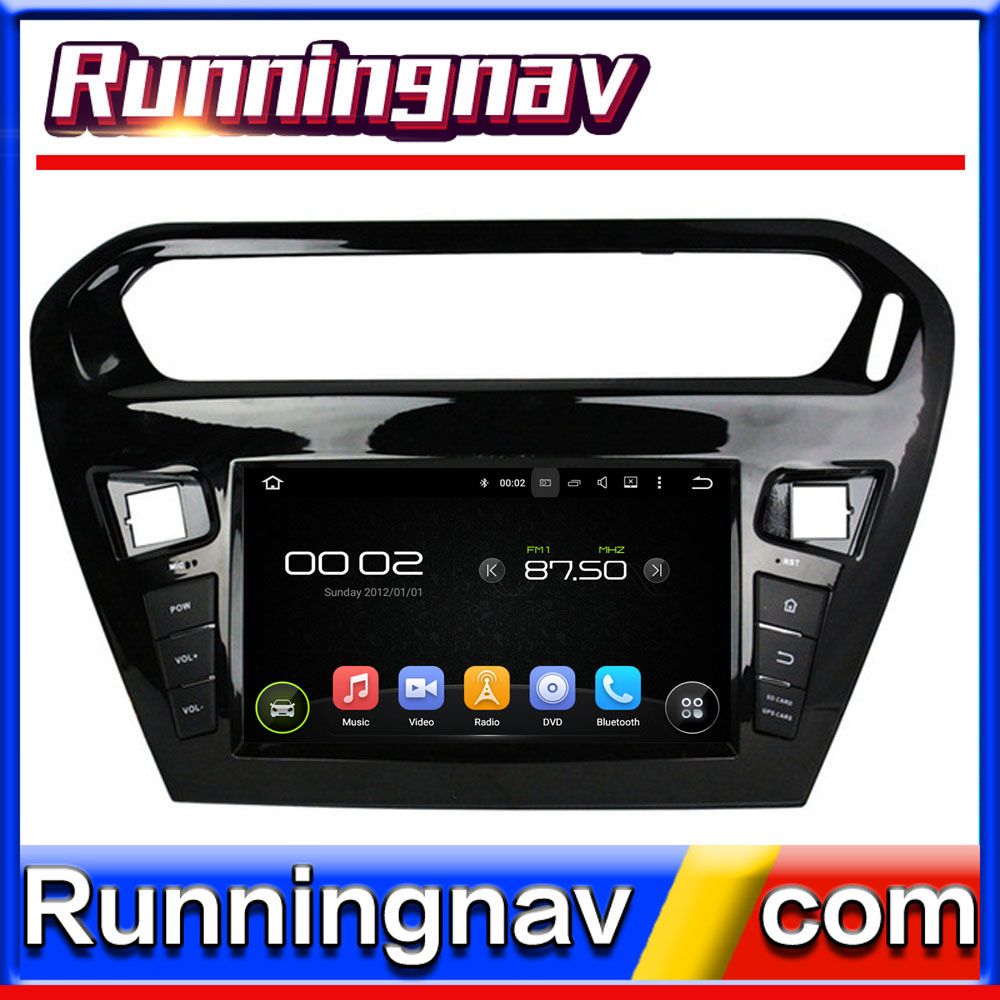 "8"" Android For Peugeot 301 2013 - 2014 2 Din Quad Core / Qcta Core HD Car DVD Player GPS Navigation Radio"