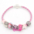 New Arrival Breast Cancer Jewelry, DIY Interchangeable Breast Cancer Awareness Pink Ribbon Bracelet for Breast Cancer Month