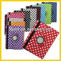 "Smart Cover 360 Rotating Leather Case for iPad Strong Magnet Cover Case Stand For iPad Case 9.7"" Tablet Accessories Polka Dot"
