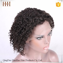 Hot selling wholesale price factory stock natural black full lace curly bob wig