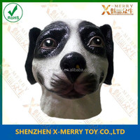 X-MERRY 100% Latex Rubber Dog Mask Hood costume catsuit suit unique thick halloween