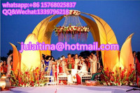 wedding stage decoration with flowers/indian wedding party mandap decorations design/wedding chuppah for