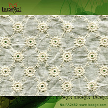 3D Embroidered Lace Fabric African Tulle High Quality Wholesale For Bridal Dress