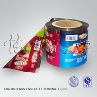Plastic Laminated food packaging for candy bar wrapper