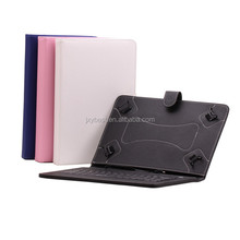 China Factory Custom Universal High quality leather Bluetooth keyboard case for 10.1 inch Tablet Pc