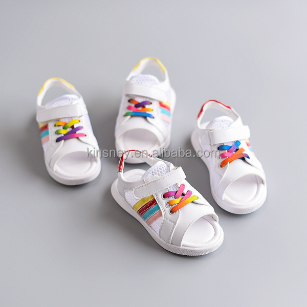 KS20079A Wholesale summer net cloth fish mouth sandal for baby