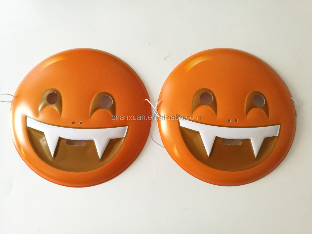 plastic PVC party smile face emoji mask