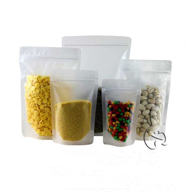 custom products food grade clear matte stand up ziploc storage bags food safe plastic storage bags
