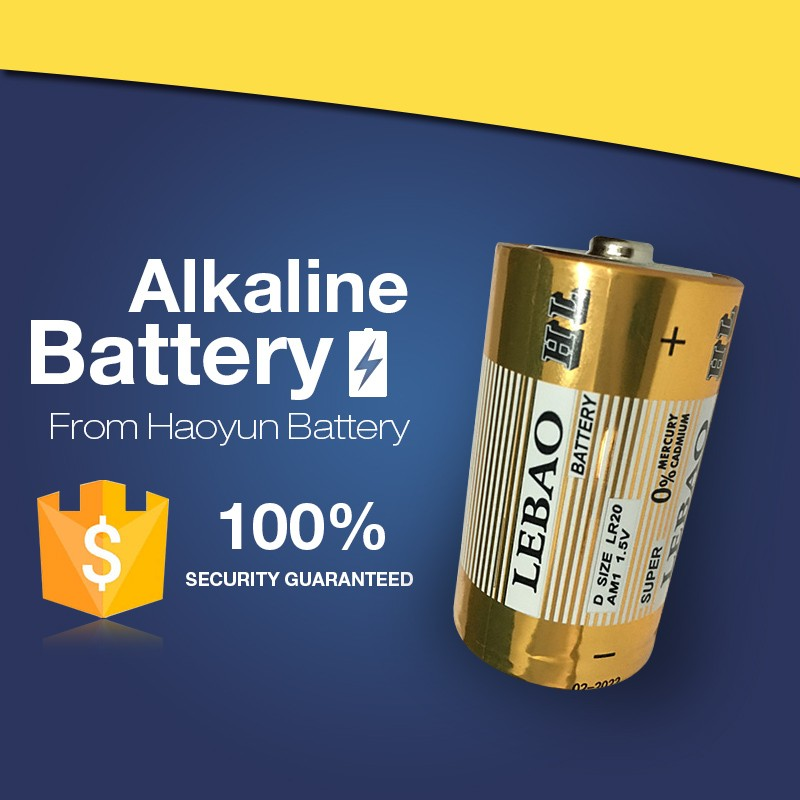 China LEBAO Brand 1.5v LR20 dry cell d size super batteries alkaline