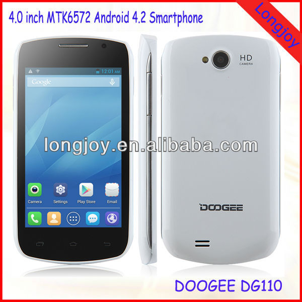 China Factory Cheap 4 inch Android 4.2 Smartphone MTK6572 5MP Camera