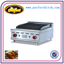 commercial Stainless Steel Table Top Gas Lava Rock Grill