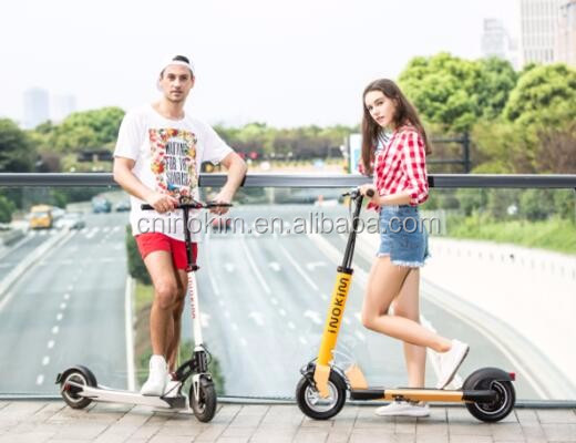 Newest cool romai portable folding 10inch electric scooter