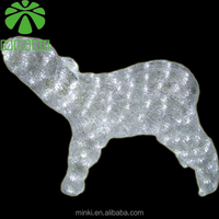 Minki 0.4M white baby reindeer figure outdoor led christmas motif light
