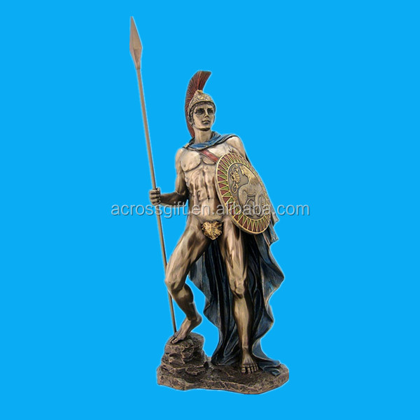 Roman God Mars Sculpture - Greek God Ares - H: 12.25 Inch - God of War and the Military figures Statue resin