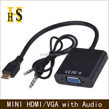 mini hdmi to vga cable with audio factory wholesale high quality hdmi to vga converter adapter