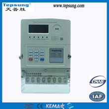 Bidirectional Prepayment Kwh Meter Three Phase Digital Prepaid Electronic energy meter with Optical IR Communication Port